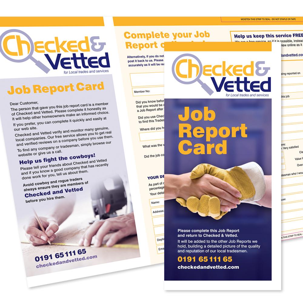 job report card